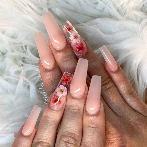 Light Pink With Flowers