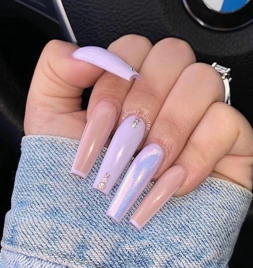 Light Pink and Purple With Chrome